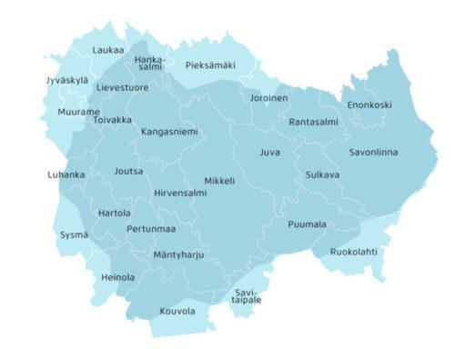 Järvi-Suomen Energian verkkoalue